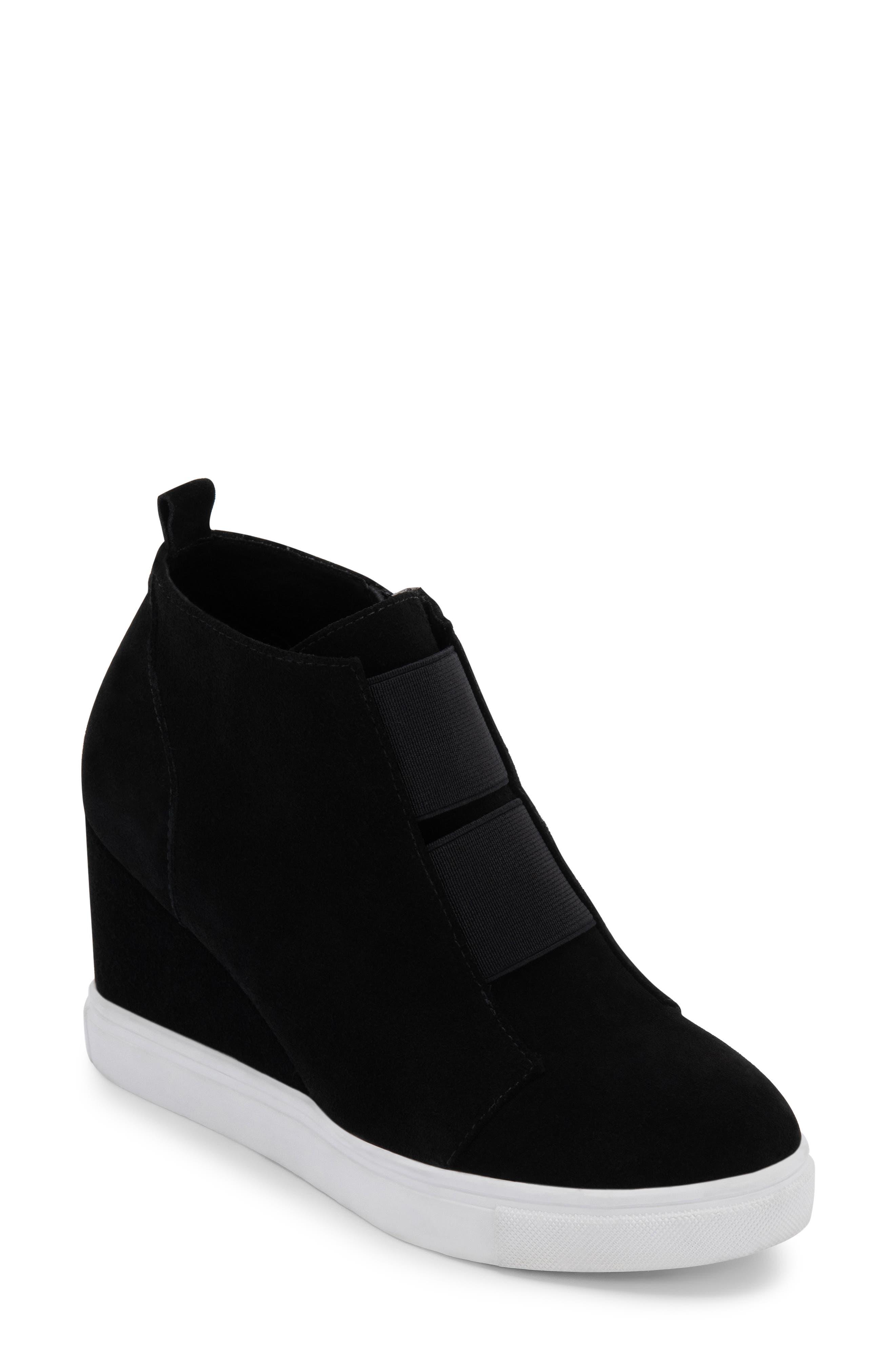 Image of Blondo Gizella Waterproof Suede Hidden Wedge Sneaker