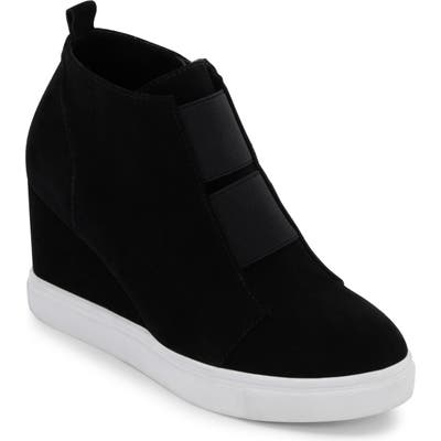 Blondo Gizella Waterproof Wedge Sneaker- Black