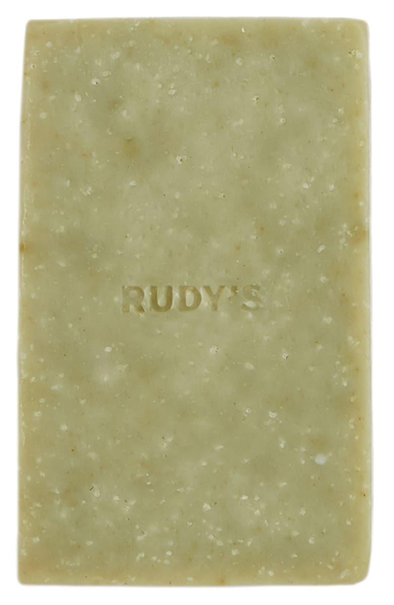 RUDY'S Barbershop Exfoliating Body Bar, Main, color, NO COLOR
