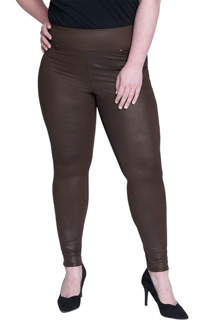 Image of Seven7 Faux Leather Tummy Toner Leggings