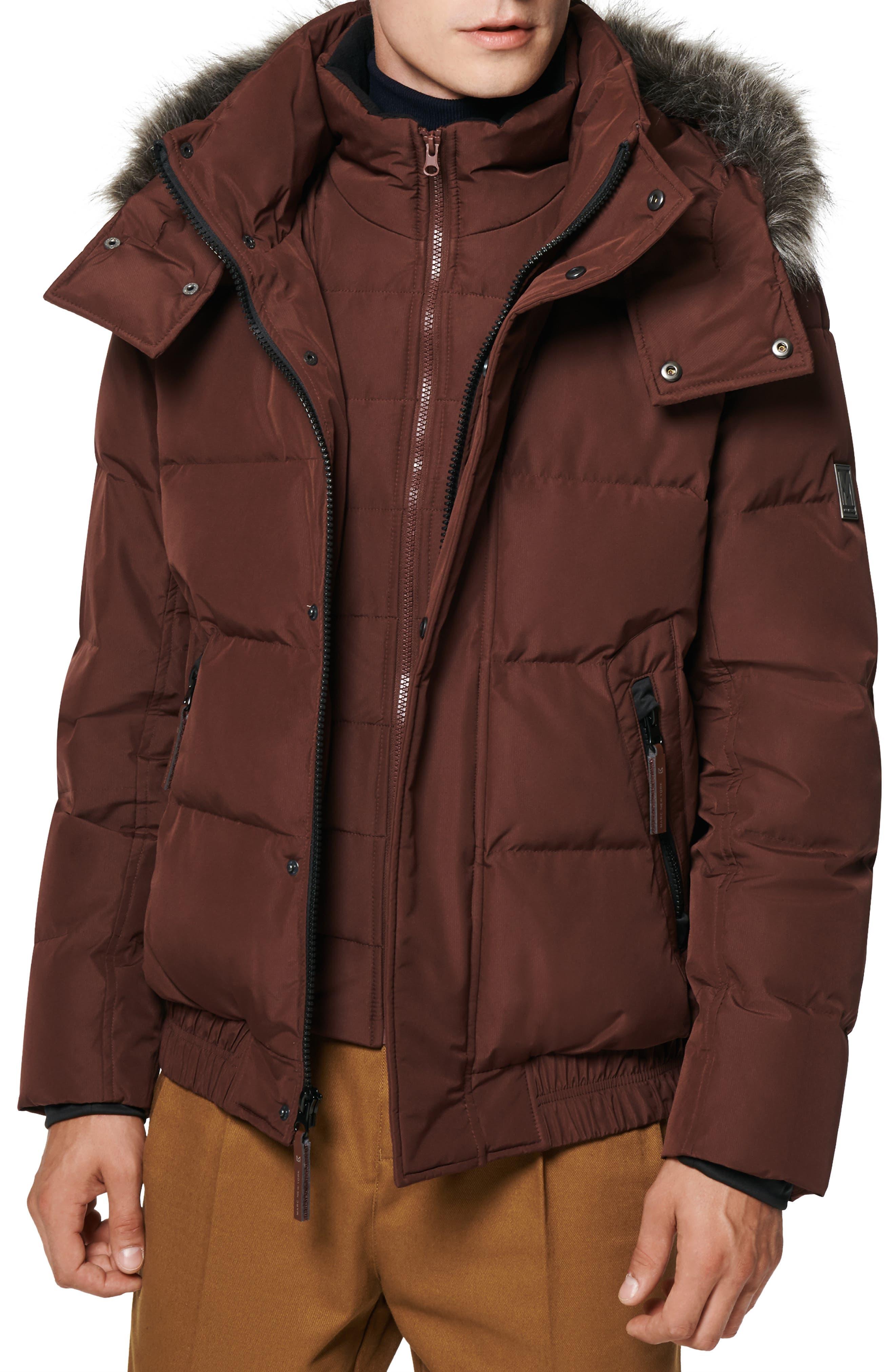 Umbra Faux Fur Trim Quilted Jacket