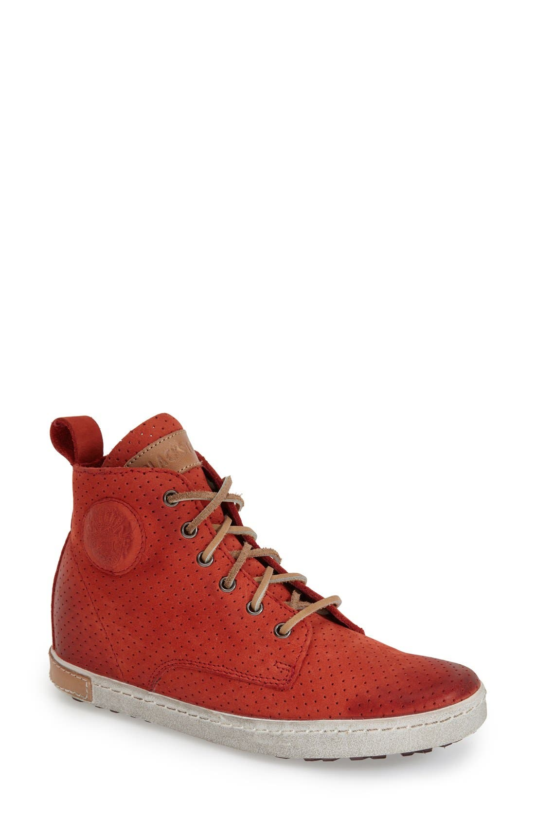 Image of Blackstone Perforated Leather High-Top Sneaker