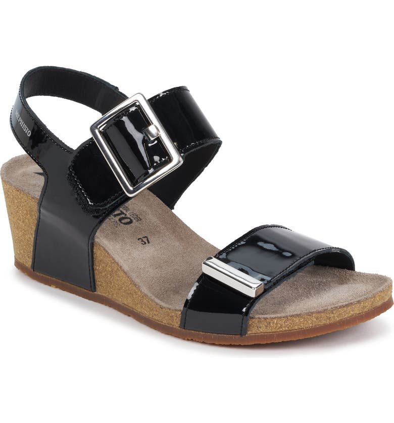 MEPHISTO Morgana Wedge Sandal, Main, color, 004