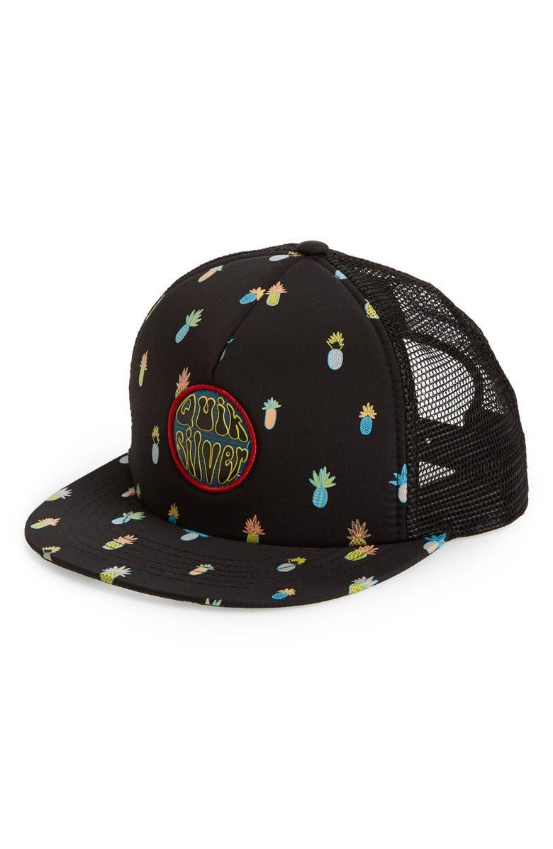 QUIKSILVER 'Slash' Trucker Hat, Main, color, 002