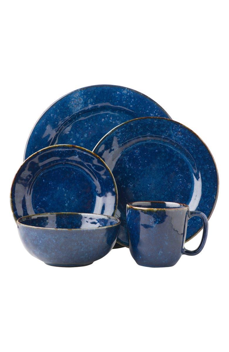 JULISKA Puro Cobalt 5-Piece Dinnerware Place Setting, Main, color, DAPPLED COBALT
