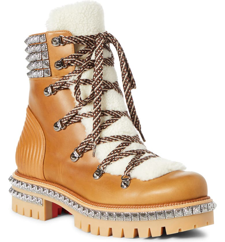 Yeti Faux Shearling Hiking Boot by Christian Louboutin