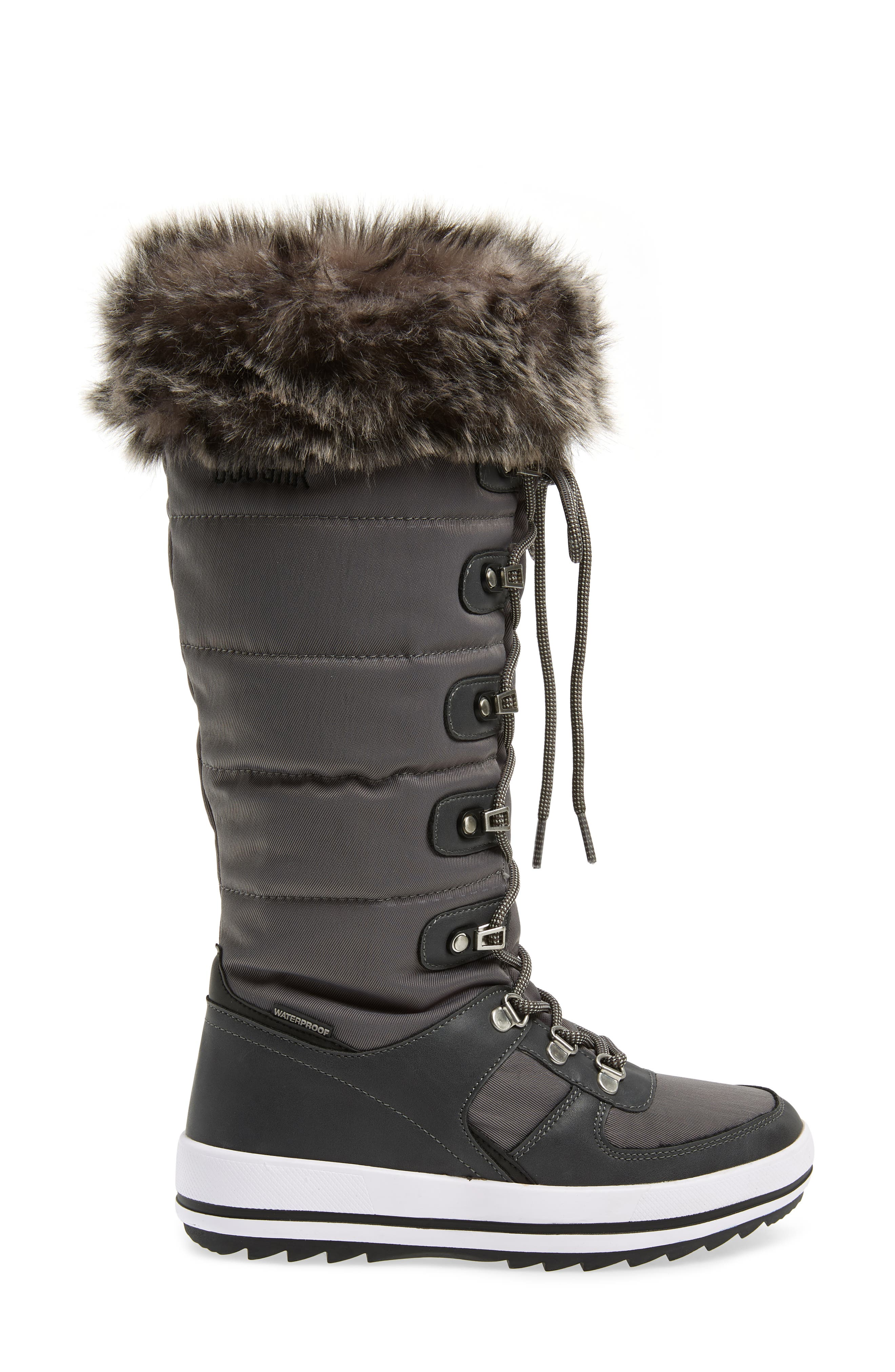 ,                             Vesta Faux Fur Collar Knee High Snow Boot,                             Alternate thumbnail 9, color,                             020