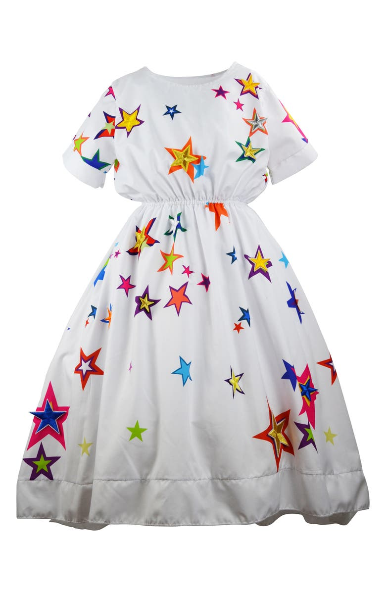 LOLA & THE BOYS Shooting Stars Maxi Dress, Main, color, WHITE