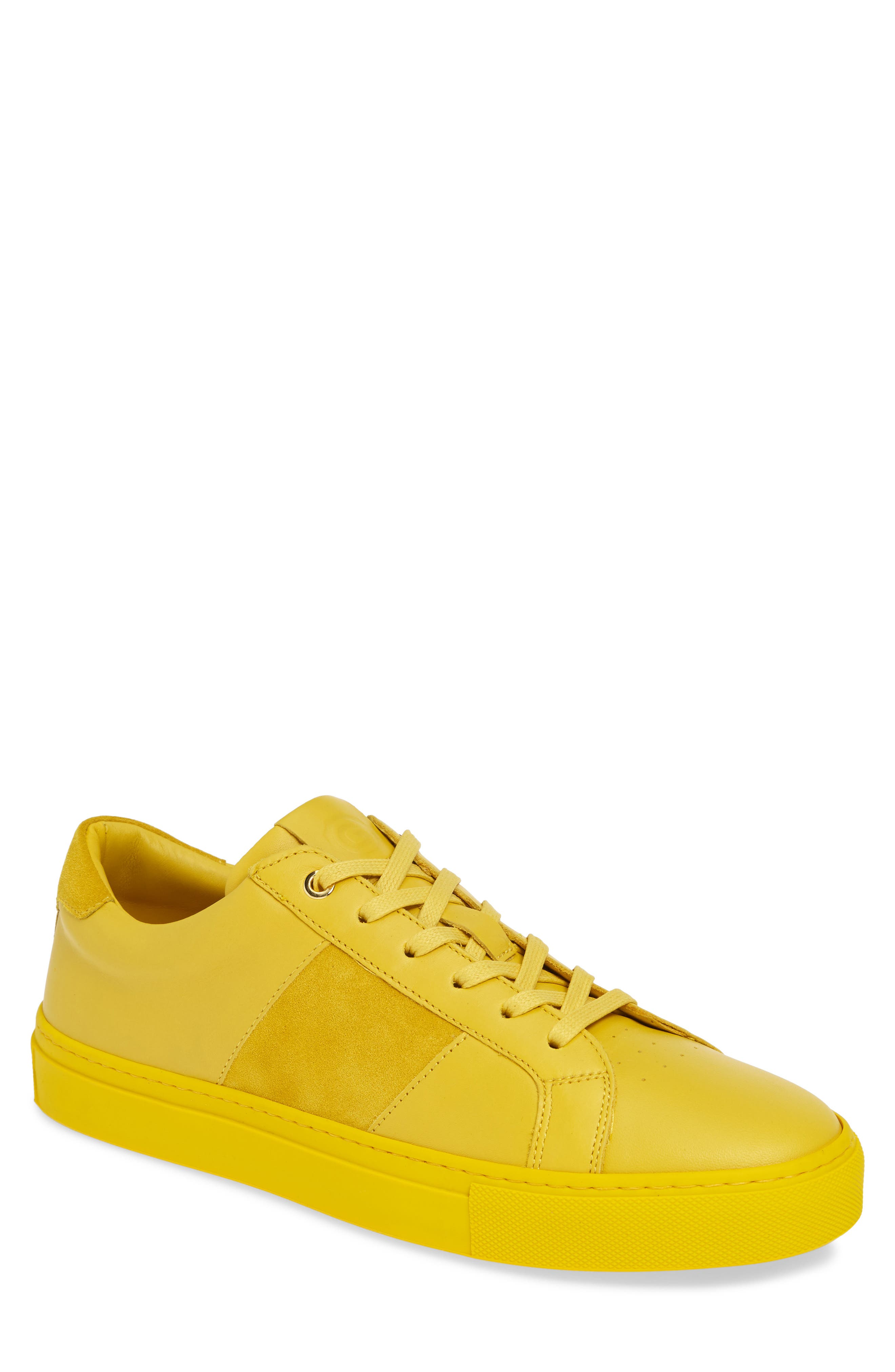 ,                             Royale Sneaker,                             Main thumbnail 1, color,                             YELLOW LEATHER