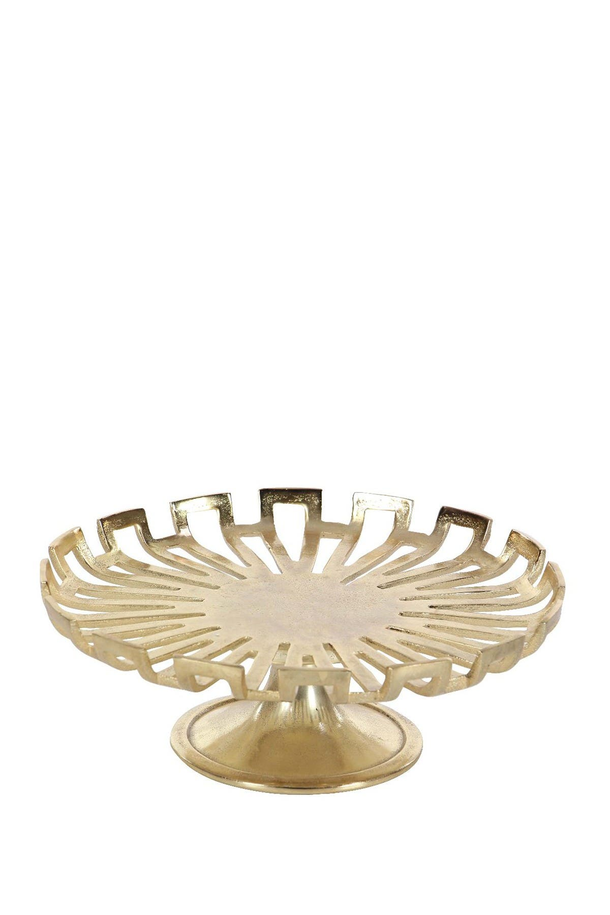 Image of Willow Row Glam Gold Aluminum Round Cake Stand