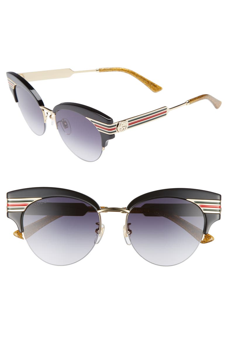 GUCCI 53mm Cat Eye Sunglasses, Main, color, 710