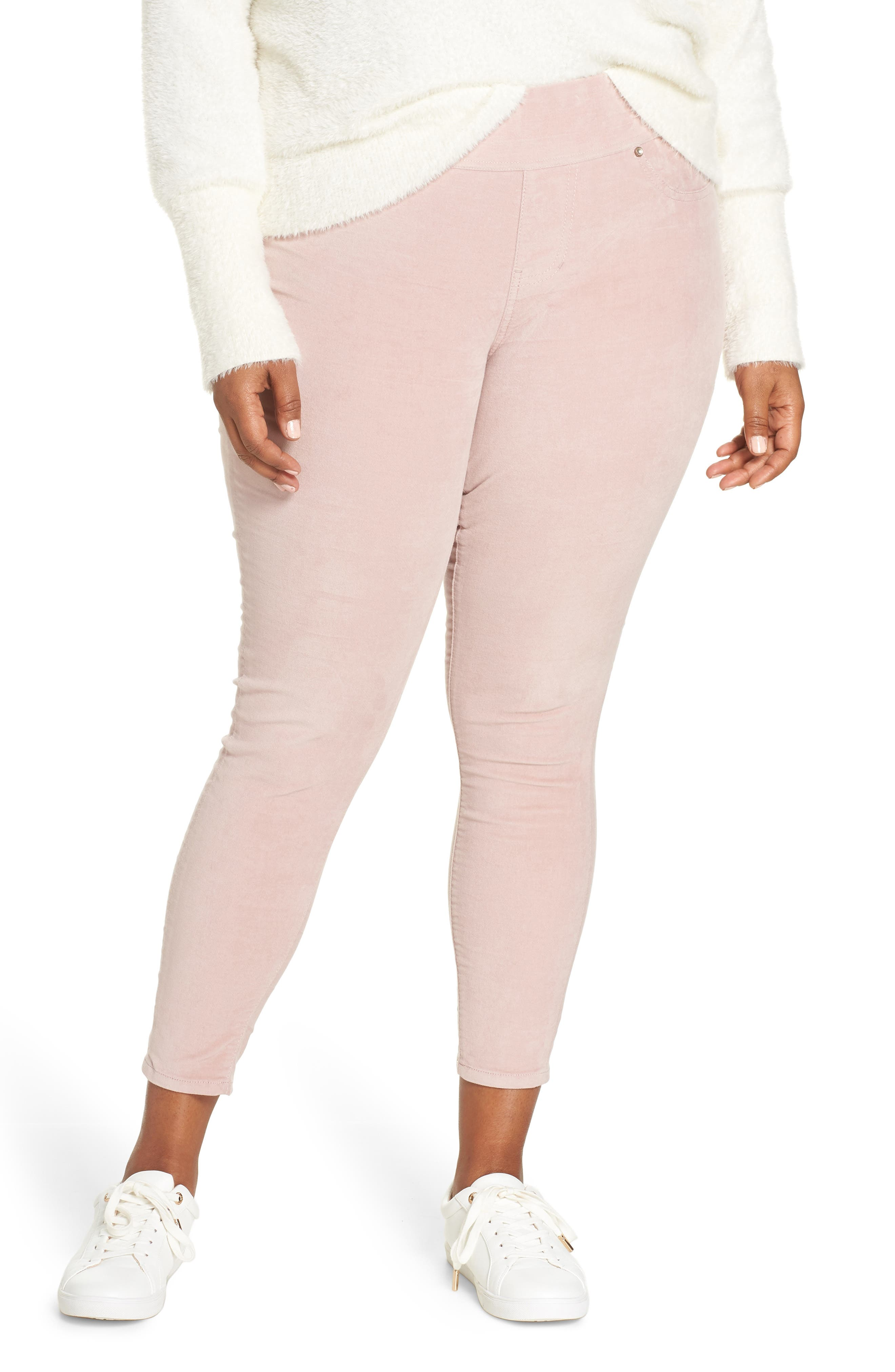 Plus Size Jag Jeans Marla Stretch Denim Leggings, Pink