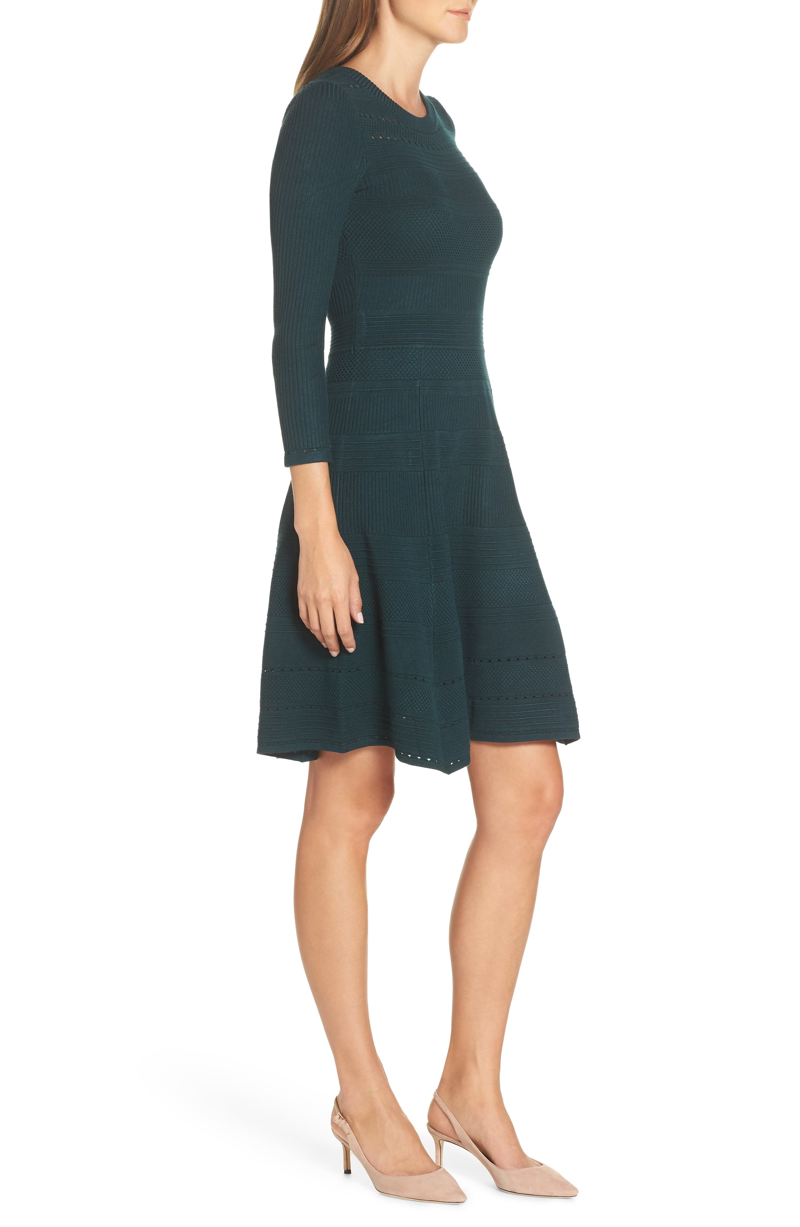 ,                             Fit & Flare Sweater Dress,                             Alternate thumbnail 16, color,                             315