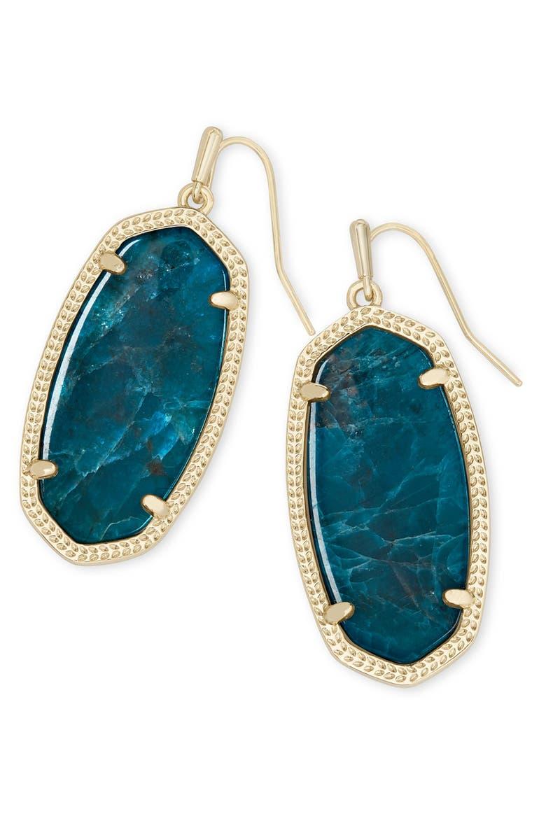 KENDRA SCOTT Elle Drop Earrings, Main, color, GOLD/ AQUA APATITE