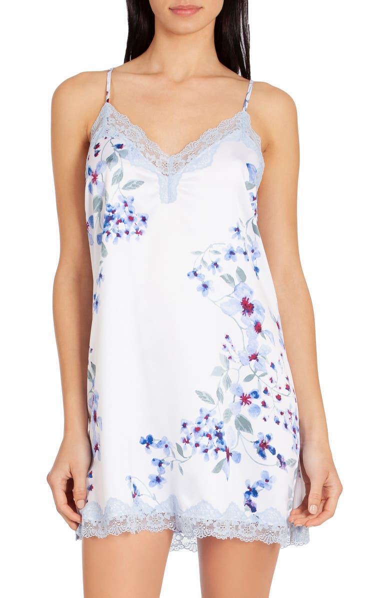 IN BLOOM BY JONQUIL Floral Print Chemise, Main, color, 400