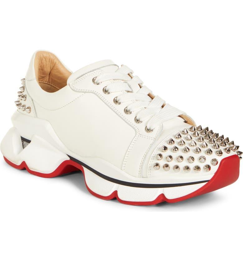 CHRISTIAN LOUBOUTIN VRS Spike Sneaker, Main, color, 100