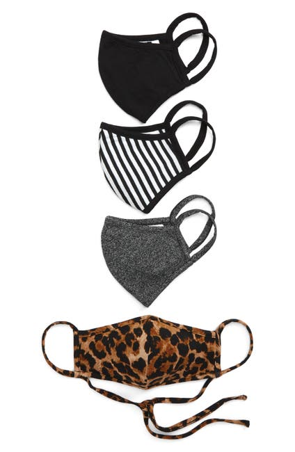 Image of Nordstrom Animal Printed Adult Face Mask - Pack of 4