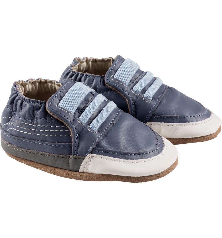 ROBEEZ<SUP>®</SUP> Finley Crib Sneaker, Main, color, SLATE BLUE