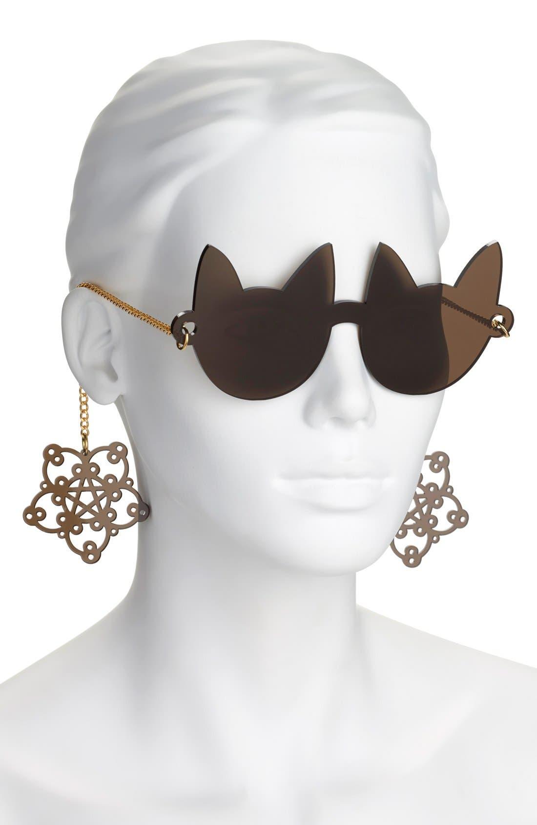 ,                             55mm Novelty Sunglasses,                             Alternate thumbnail 2, color,                             001
