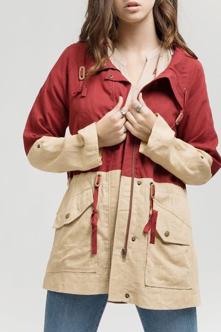 Image of Blu Pepper Colorblock Anorak Jacket