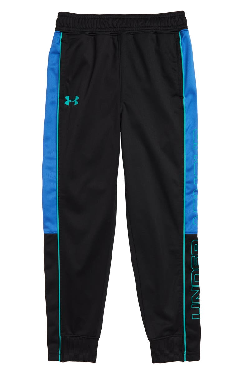 UNDER ARMOUR Velocity Hybrid Jogger Pants, Main, color, BLACK AND BLUE
