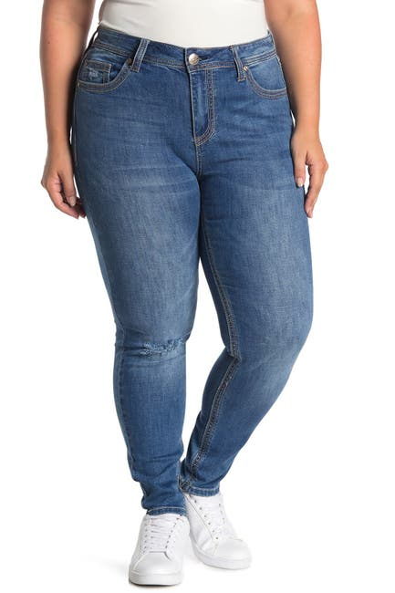 Image of Seven7 Mid Rise Rocker Skinny Jeans