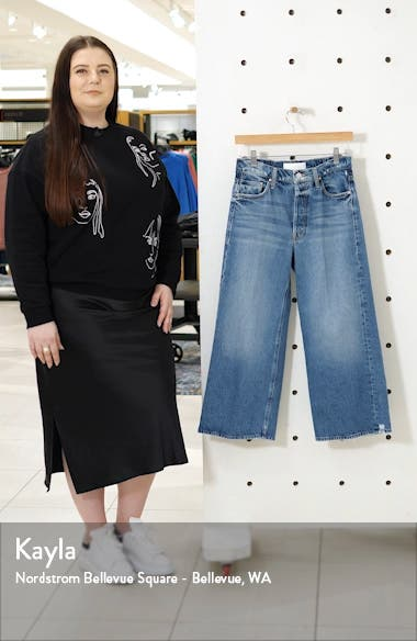 The Tomcat Roller High Waist Crop Wide Leg Jeans, sales video thumbnail