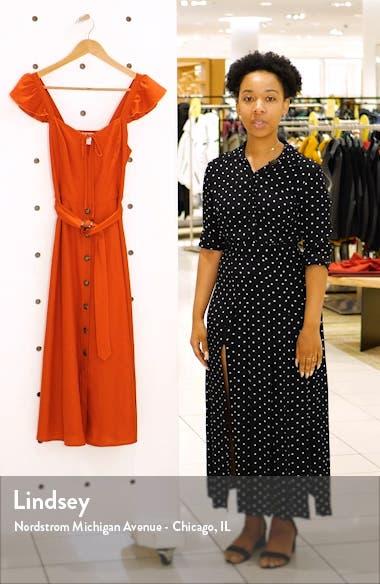 Honeysuckle Linen Blend Midi Dress, sales video thumbnail