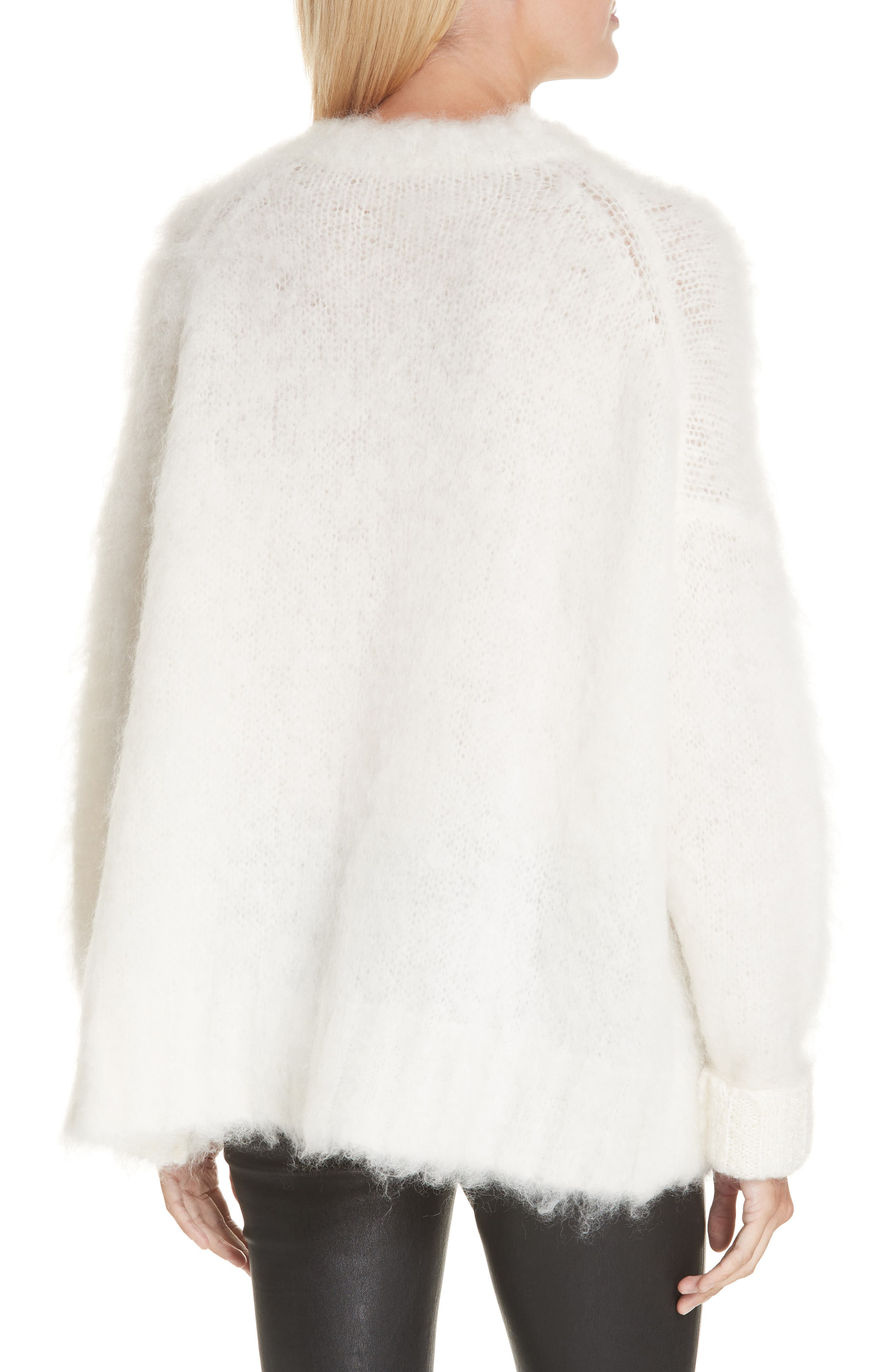 ,                             Mohair Blend Sweater,                             Alternate thumbnail 2, color,                             NATURAL WHITE