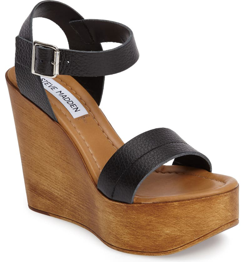 STEVE MADDEN Belma Wedge Sandal, Main, color, 001