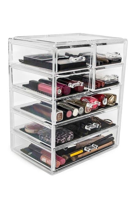 Image of Sorbus Acrylic 7 Drawer Cosmetics Makeup & Jewelry Storage Case Display
