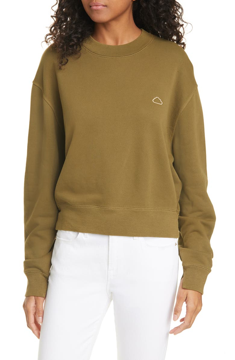 FRAME Easy Organic Cotton Sweatshirt, Main, color, FADED OD
