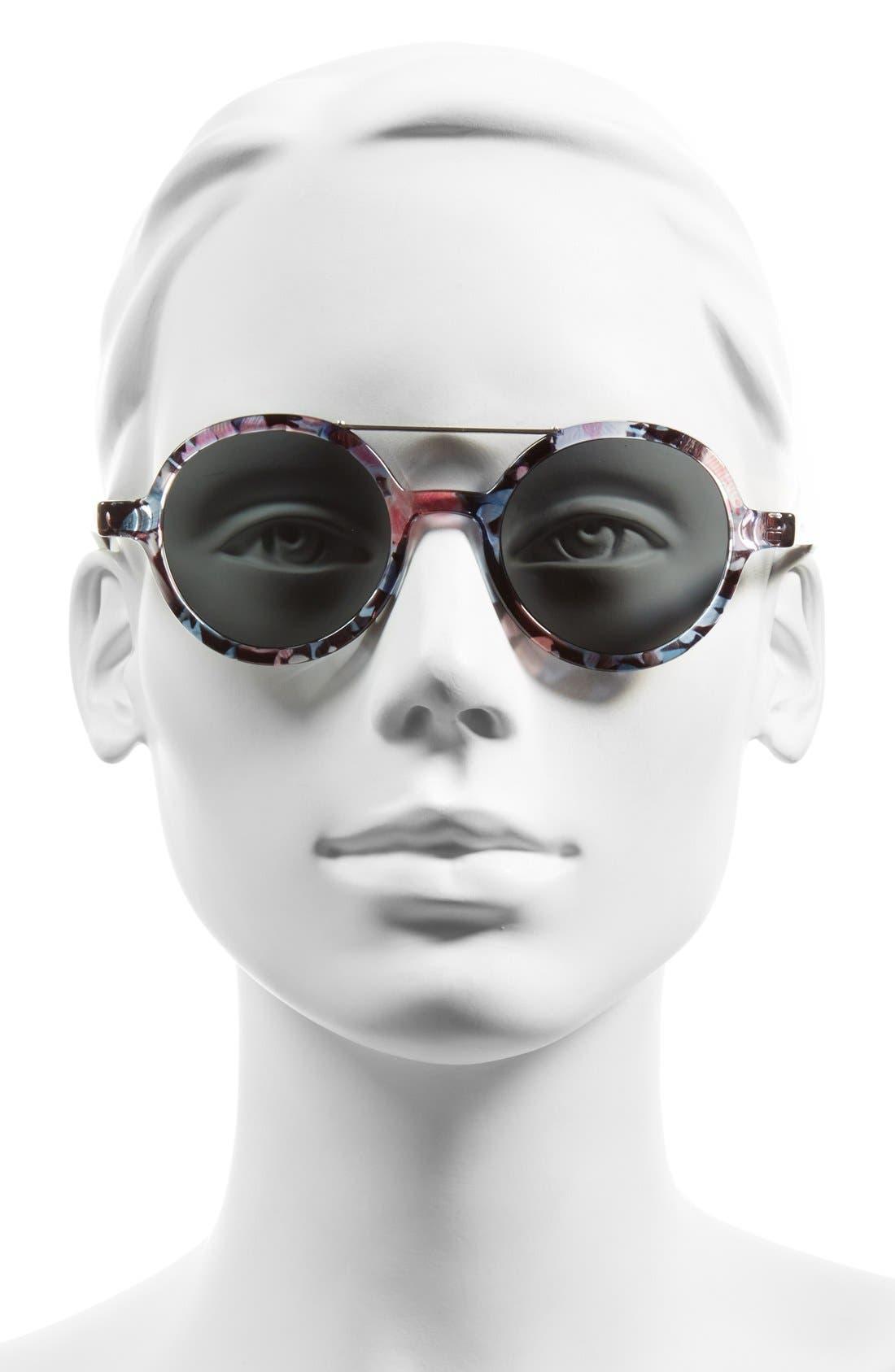,                             'Vivien' Round Lens Sunglasses,                             Alternate thumbnail 6, color,                             650