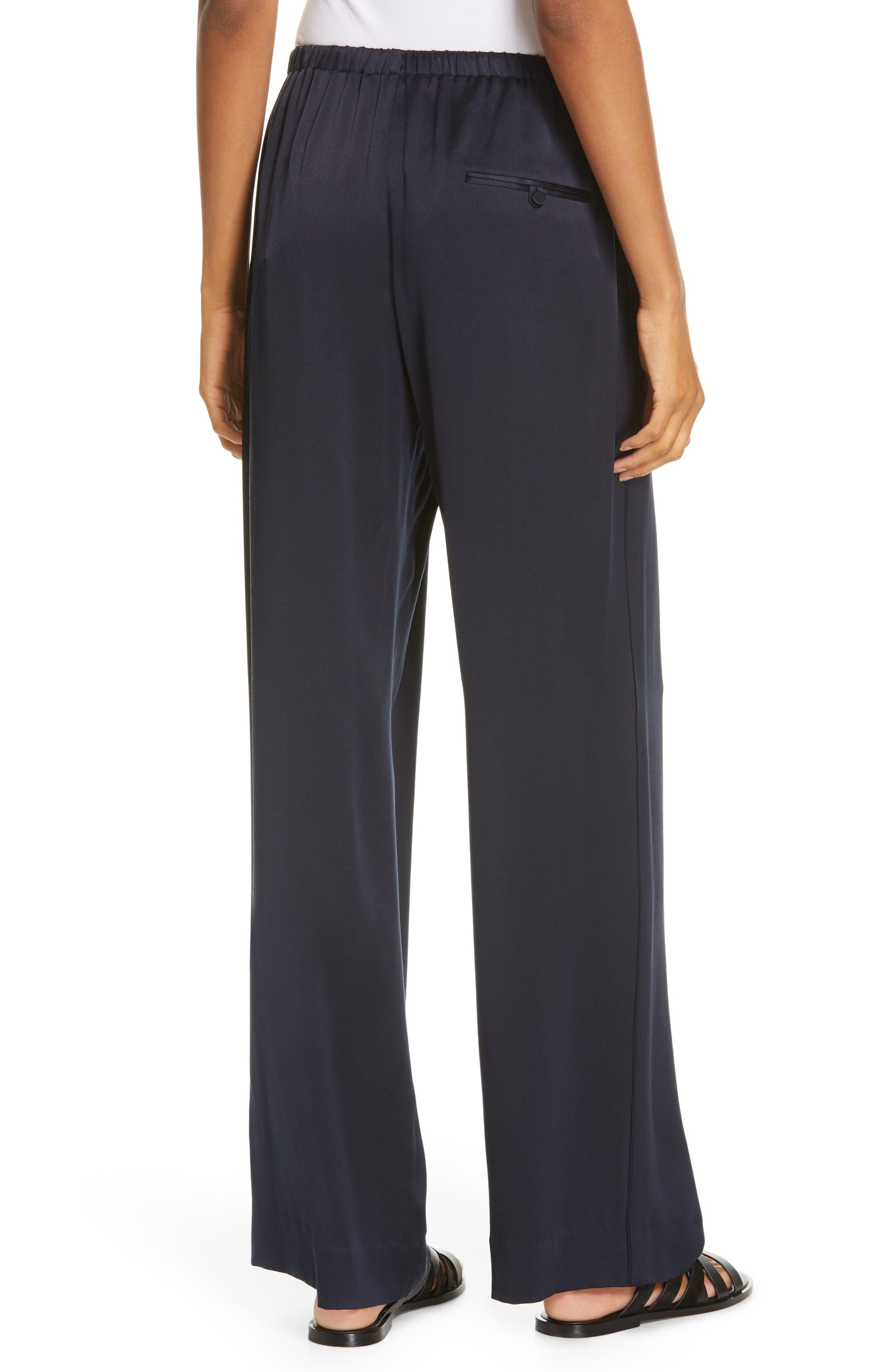 ,                             Silk Pajama Pants,                             Alternate thumbnail 2, color,                             COASTAL