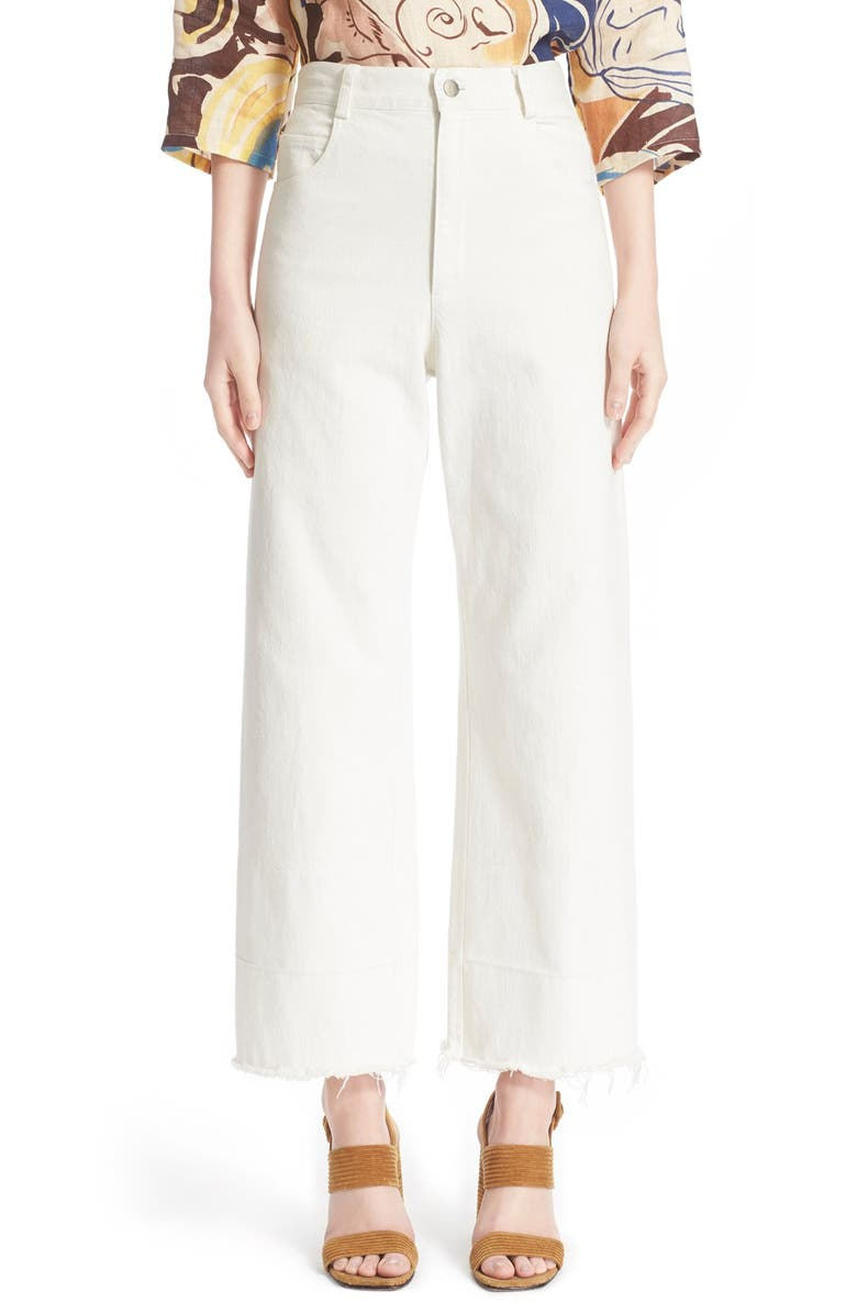 RACHEL COMEY Legion Wide Leg Denim Pants, Main, color, 100