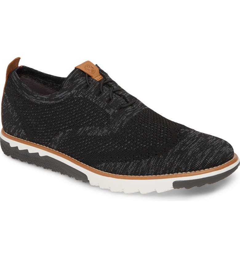 HUSH PUPPIES<SUP>®</SUP> Expert Wingtip, Main, color, BLACK MULTI KNIT