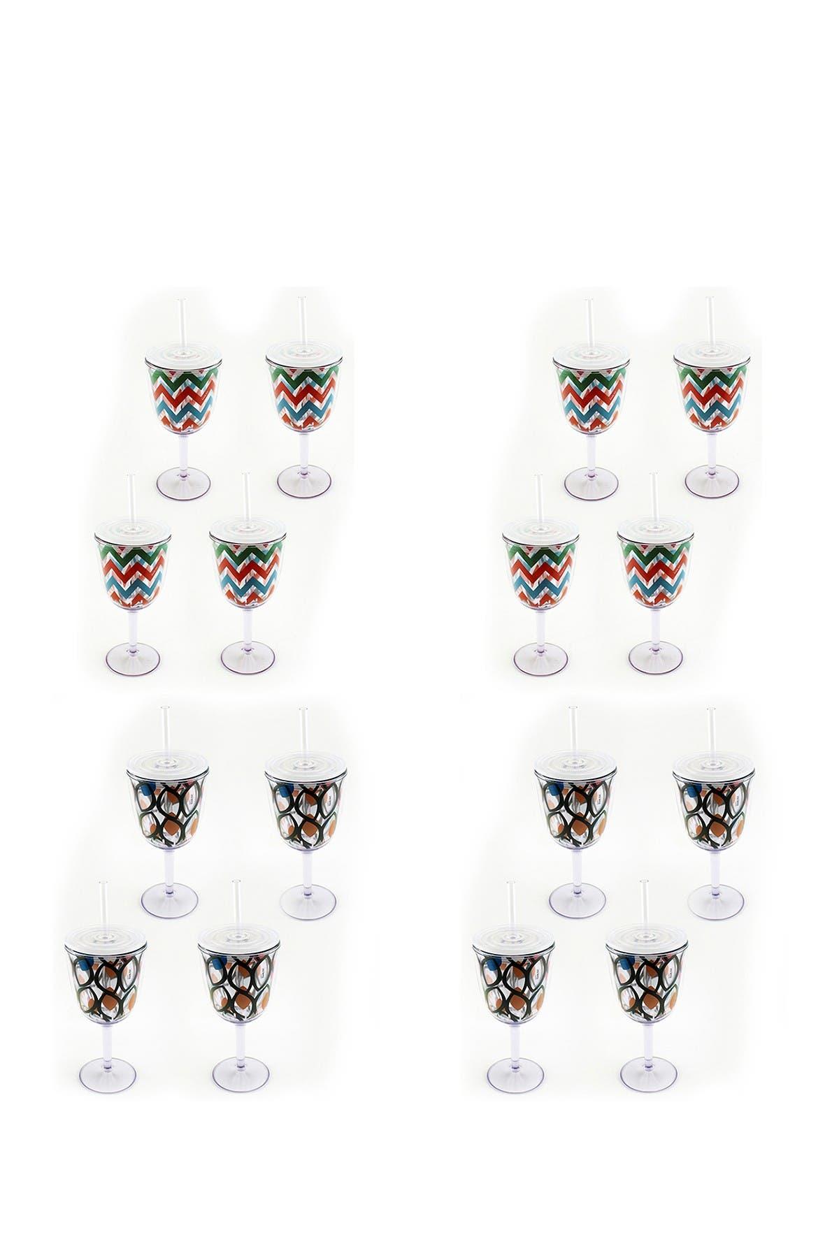 Image of BergHOFF 13oz Acrylic Wine Glasses - Set of 16