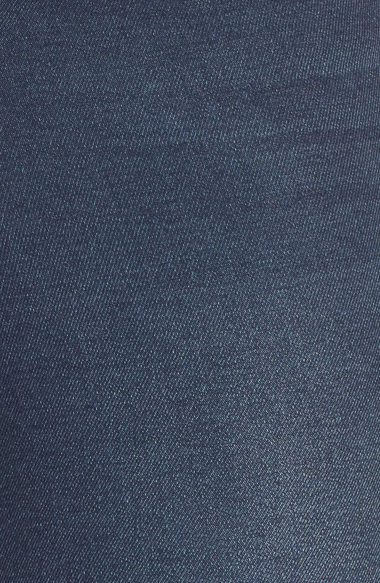 ,                             Perfect Vintage High Waist Core Fringe Hem Skinny Jeans,                             Alternate thumbnail 6, color,                             WINSTON