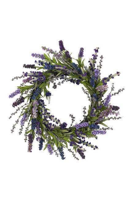 """Image of NEARLY NATURAL 20"""" Lavender Wreath"""