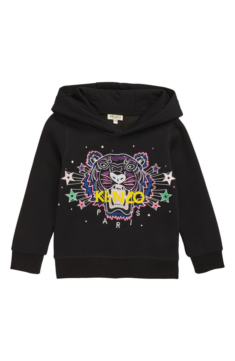 83a4f74b KENZO Tiger & Stars Embroidered Hoodie (Toddler Girls, Little Girls ...