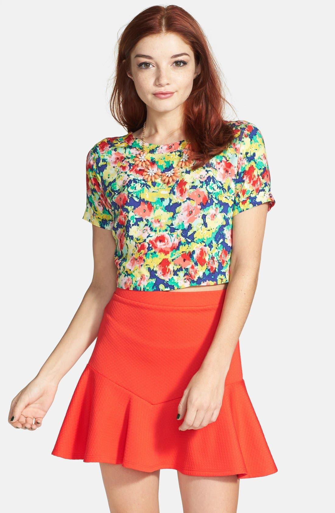 ,                             Ruffle Peplum Skirt,                             Main thumbnail 4, color,                             950