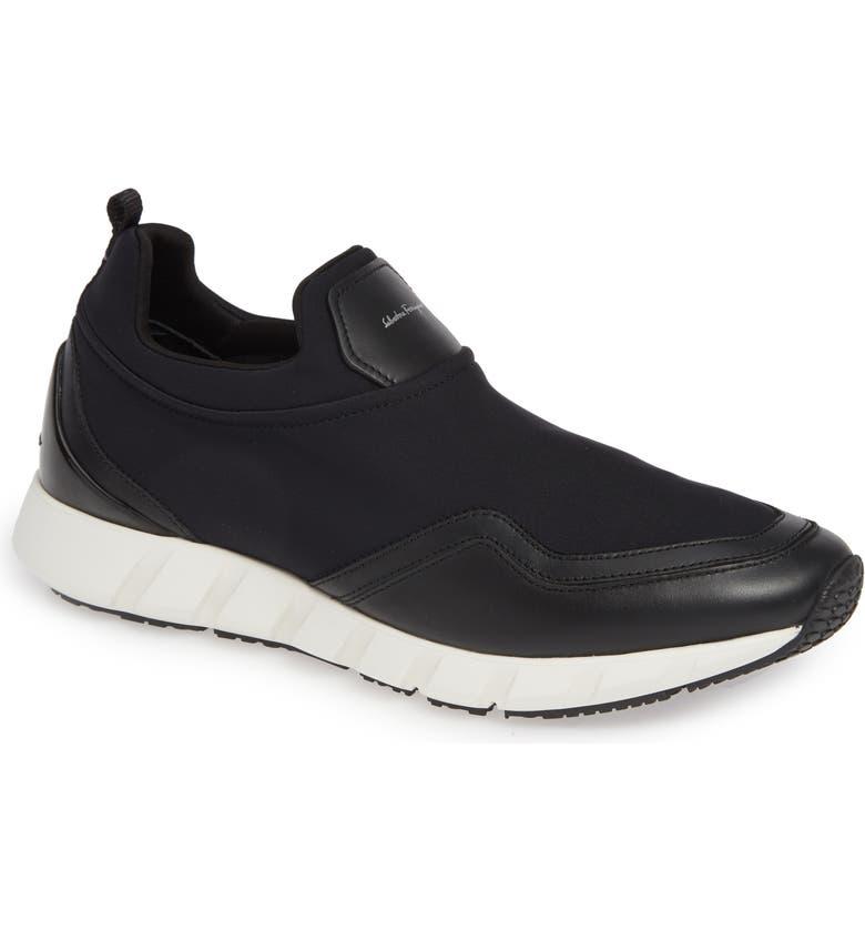 SALVATORE FERRAGAMO Columbia Slip-On Sneaker, Main, color, BLACK