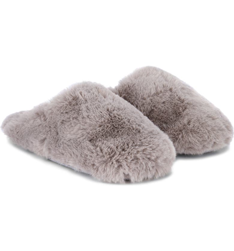 THE WHITE COMPANY Faux Fur Mule Slippers, Main, color, 020