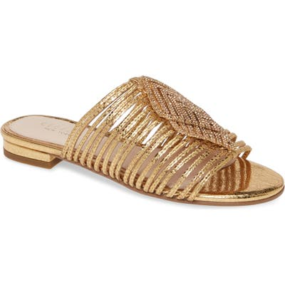 Cecelia New York Darleen Embellished Sandal, Metallic