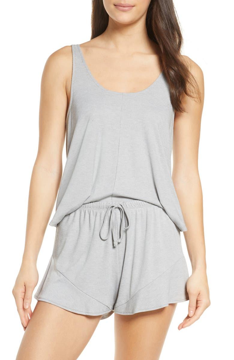 SALTWATER LUXE Short Pajamas, Main, color, HEATHER GREY