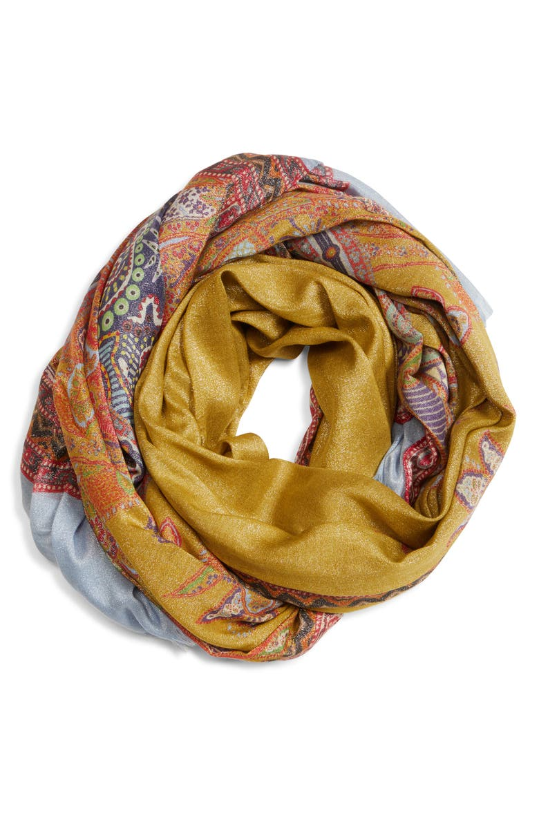 ETRO Raji Scarf, Main, color, GOLD