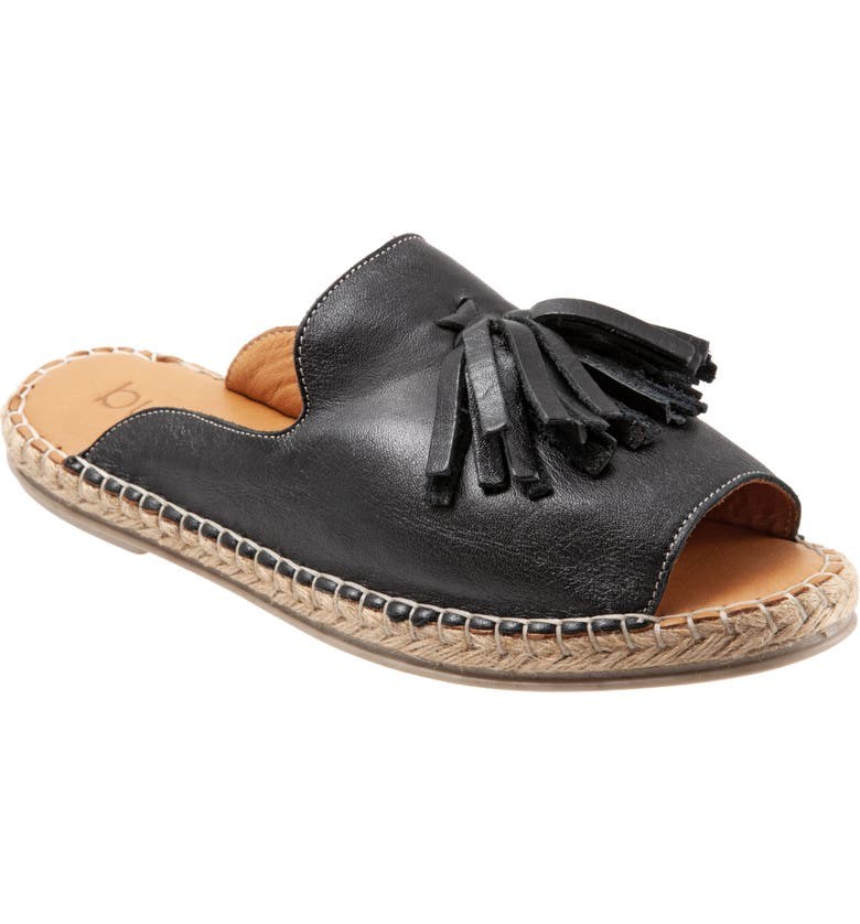 BUENO Laurel Slide Sandal, Main, color, BLACK LEATHER