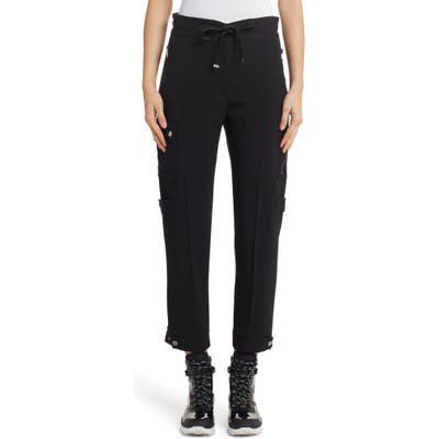 Moncler Tie Waist Cargo Pants, US / 40 IT - Black