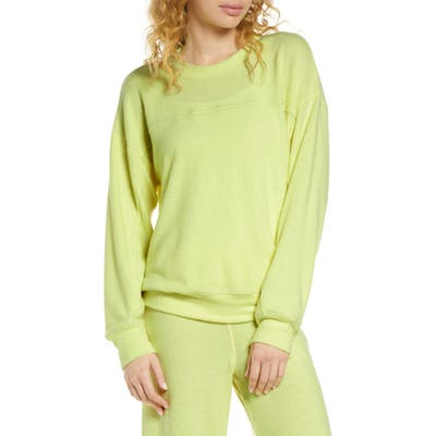 Socialite Brushed Stripe Pullover, Yellow