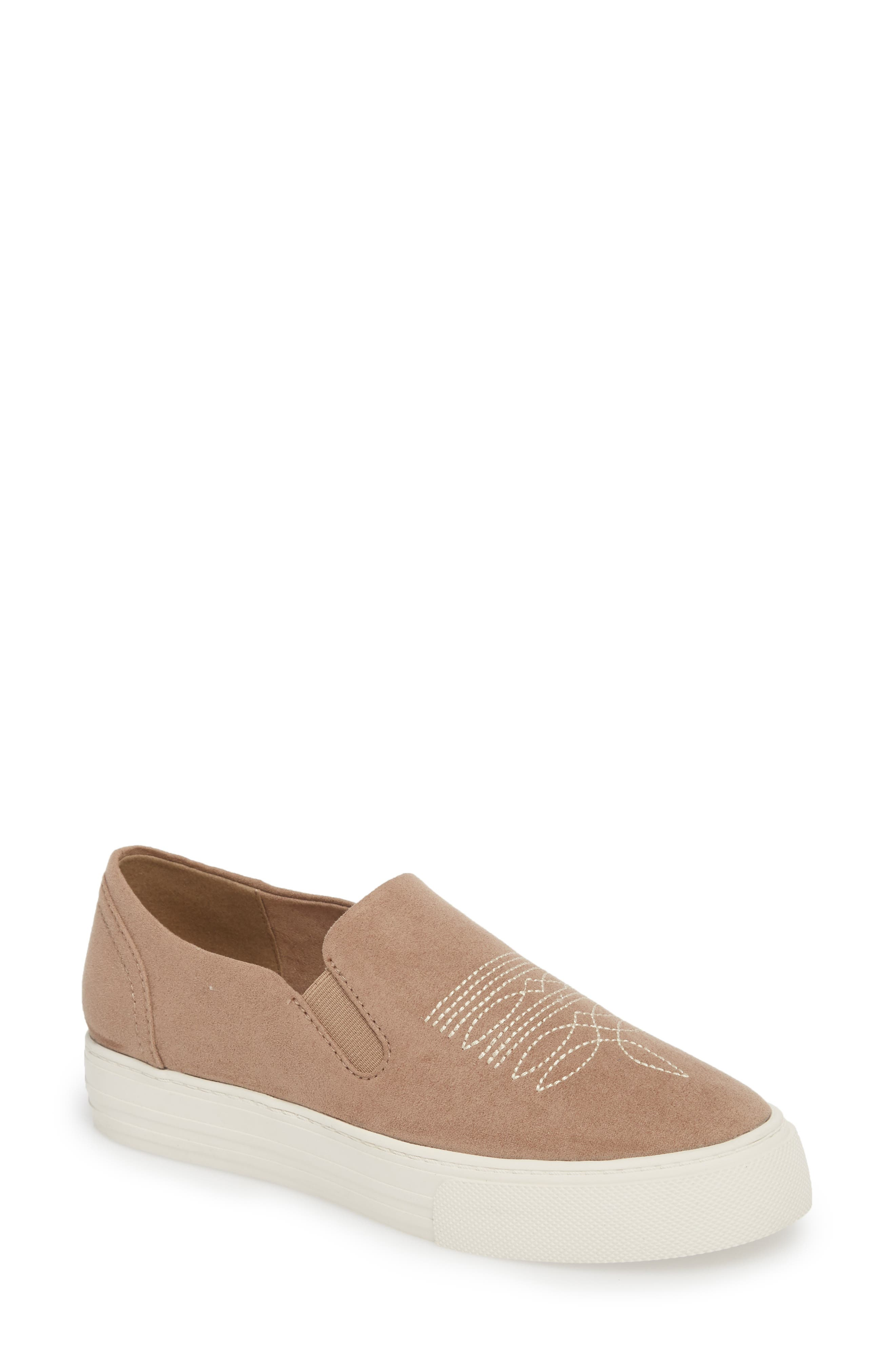 Ariat Unbridled Ace Embroidered Slip-On Sneaker, Beige